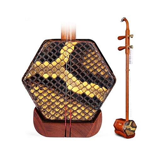 Erhu Musikinstrumente, Kinder Erwachsene Anfänger Handgefertigte Professionelle Universal Instruments, Red Palisander Erhu, Red Palisander Rod Kupfer Shaft (Farbe: Natur) DUZG (Color : Natural)