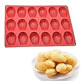 Stampo per torta in silicone a 18 cavità Madeleine, stampo per teglia in silicone per torta a conchiglia, stampo per dolci al cioccolato artigianale