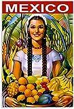 APAZSH Laminas para Cuadros Frutas Tropicales dadas a Usted por los pueblos indígenas de México Lienzo póster y Decoracion de Cuadros artísticas50x70cm x1 Sin Marco