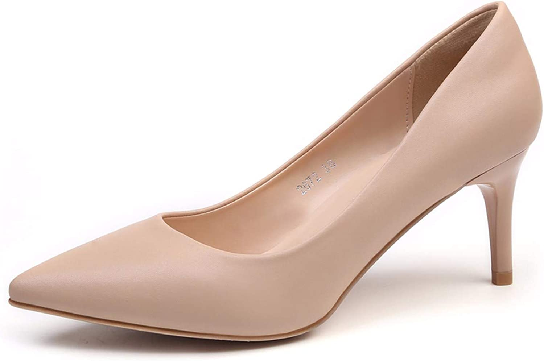 KOKQSX-Hochhackigen Schuhe Schuhe Schuhe 7cmmädchenfein hackennacktfarbenwilde joggensharp Hat  097a90
