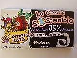 12 UNIDADES DE 100 GR.CHOCOLATE CESTA SOSTENIBLE DE COMERCIO JUSTO 85% DE CACAO.