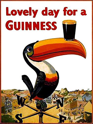 not Lovely Day for A Guinness Tin Metal Sign Plaque Vintage Retro Iron Wall Warning Poster Decor for Bar Cafe Store Home Garage Office Hotel