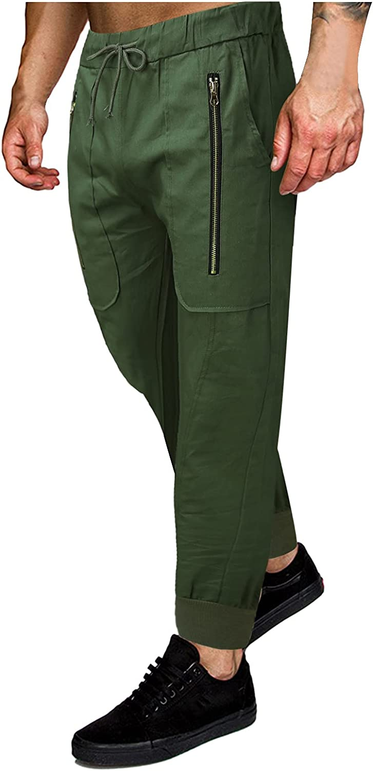 MOOKO Cargo Pants for Mens Athletic Joggers Slim Fit Stretch Sports Outdoors Running Hiking Sweatpants Trousers
