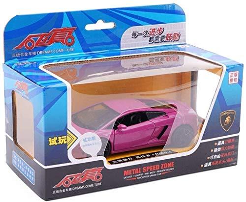 DEWUFAFA Auto-Modell Modellauto Simulation Auto-Modell Kinder Spielzeug-Auto 1/32 LP700 Metall Auto-Modell-LP560-lila/blau/grün/gelb Junge Geschenke senden Auto-Druckguss-Modell
