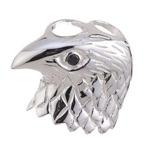 Vinani Anhänger Adler Kopf glänzend mit Zirkonia schwarz Auge Sterling Silber 925 AAK-EZ