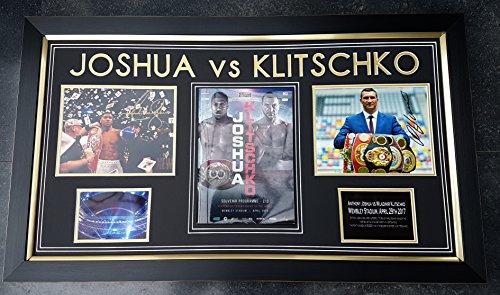 WWW.SIGNEDMEMORABILIASHOP.CO.UK ONE OFF!! Anthony Joshua en Wladimir Klitschko ondertekend Photo Display & OFFICIAL FIGHT PROGRAMMA