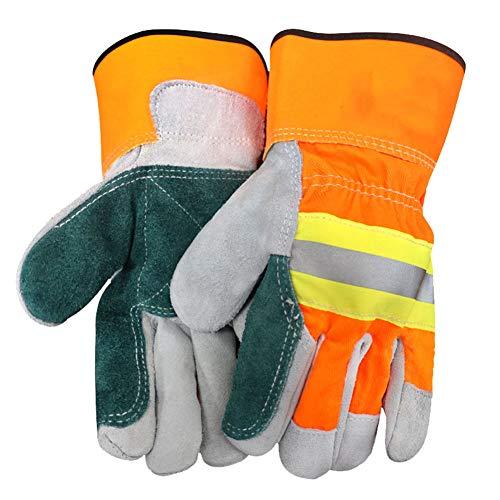 Guantes anti-corte de Kraft soldador gruesos resistentes a la alta temperatura resistente al desgaste guantes de soldadura de punción