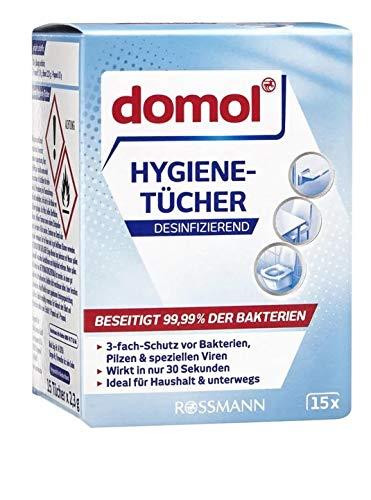 domol Hygiene-Tücher, 1 x 15 Stück