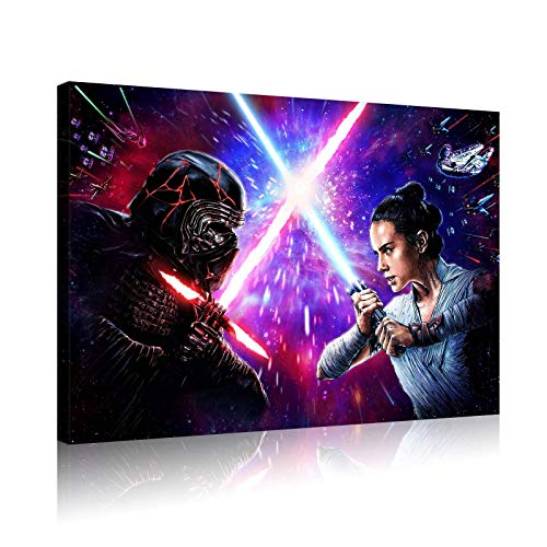 Hinyast Star Wars Poster Anime Movie Posters Wall Decor Room Decor Canvas Wall Art (18x24inch,No Framed)