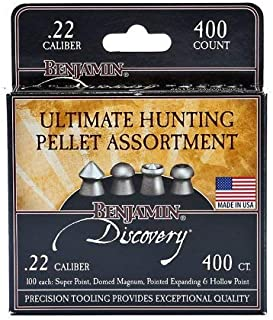 Benjamin Hunting Assortment 100each pointed domedmagnum expanding hollow 22BHPA