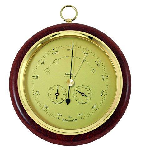 Fischer Barometer Messing 110 x 84 mm, Holz, Mehrfarbig, Einheitsgröße