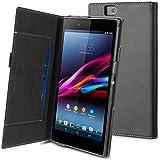 muvit SESLI0052 Etui Folio pour Sony Xperia Z Ultra Noir