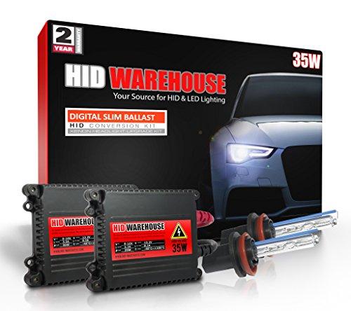 HID-Warehouse 35W Xenon HID Lights with Premium Slim Ballast - H11 5000K - 5K Bright White - 2 Year Warranty