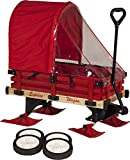 Millside Industries Sleigh Wagon with Red Wooden Racks (06475)