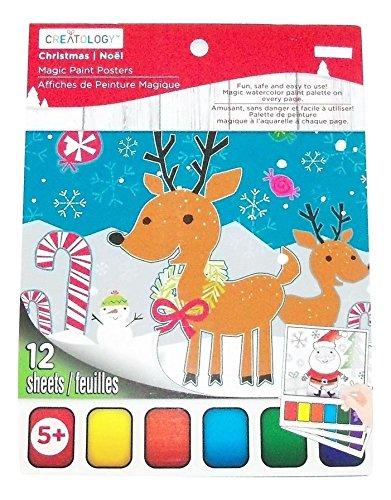 Creatology Magic Paint Posters ~ Christmas Edition (Reindeer, Snowmen, Santa; 12 Posters, 6' x 8')