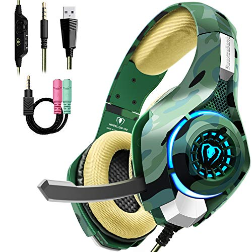 Gaming Headset for PS4 PC Xbox one, Stereo Sound Over Ear Headphones with...