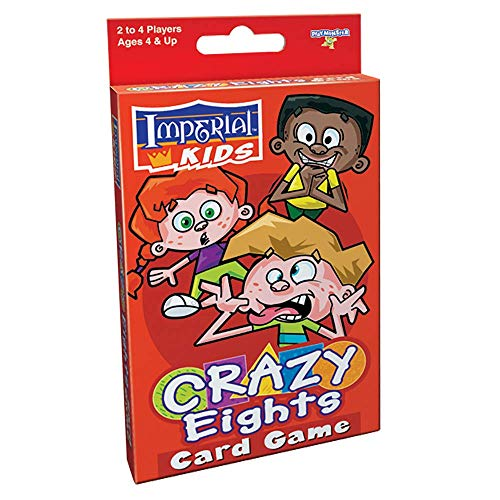 PlayMonster Imperial Kids Crazy Eights -- Classic Card Game with Colorful, Durable Cards -- for Ages 4+