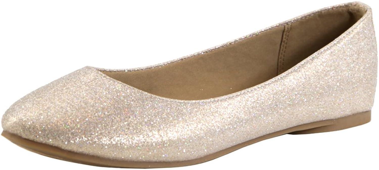 Bella Marie Women's Classic Slip-On Closed Round Toe Ballet Flat