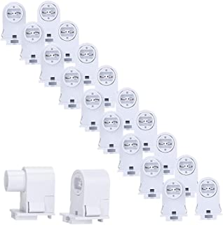 Brillihood 10 Pairs T8/T10/T12 Recessed Double Contact R17D HO Tombstone Base LED Tube Light Replacement Fluorescent Plunger Lampholder Socket White