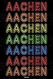 Aachen Notizbuch: Retro Vintage Aachen Stadt Journal DIN A5 liniert 120 Seiten Geschenk (German Edition)