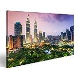 Bild Bilder auf Leinwand Skyline der Stadt Kuala Lumpur