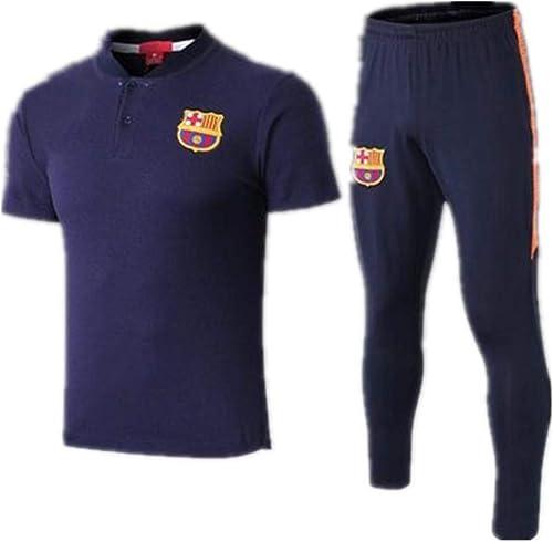 XunZhiYuan Maillot de Football de Club à Manches Courtes Team Play Costumes d'entraîneHommest T-Shirt et Pantalon pour Homme