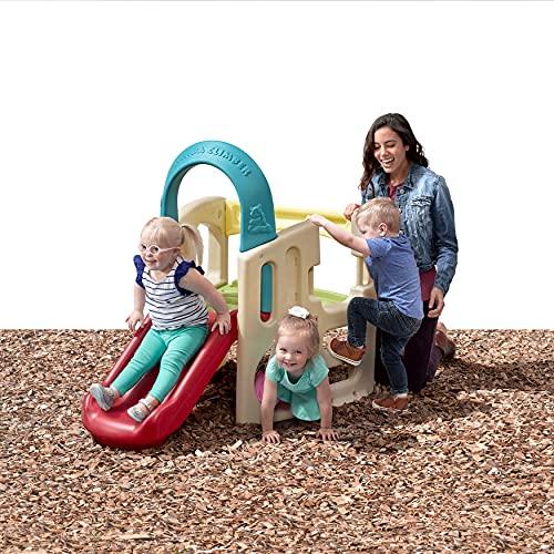Step2 Panda Climber | Outdoor Toddler Activity Playset, Tan/Red/Yellow/Blue