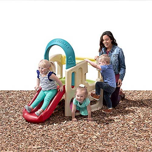 Product Image of the Step2 Panda Climber | Outdoor Toddler Activity Playset, Tan/Red/Yellow/Blue