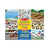 Melissa & Doug Vehicles Reusable Sticker Pad (Extra Large Sticker Activity Pad, Removable Backgrounds, 165+ Stickers, Great Gift for Girls and Boys - Best for 3, 4, and 5 Year Olds)