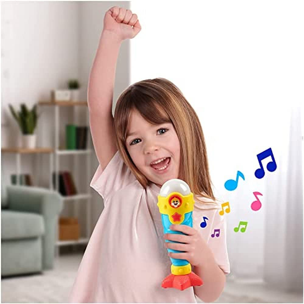 WowWee Baby Shark's Big Show! Sea Jam Microphone for Kids – Karaoke Mic Includes Pre-Recorded Theme Song and Three Voice Filters
