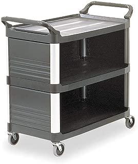 Enclosed Cart, HDPE, Black, 300 lb.