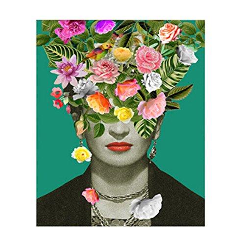 LrIglPjP - Lienzo de estilo mexicano para decoracion de pared, diseno de flores, n/a, 40x60cm