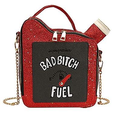 Kuang Women Fashion Sequin Crossbody Bag Girl's Fun Gasoline Handbag Shoulder Bag for Women Messenger tote Bags