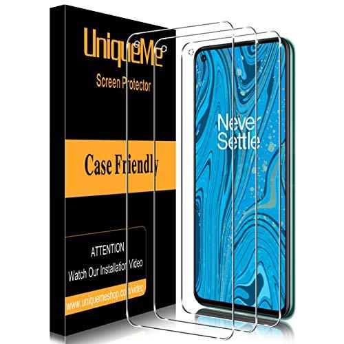 UniqueMe [3 Pack] Vetro Temperato per Oneplus 8T Pellicola Protettiva, [Bubble Free] [9H Hardness] Anti-Scratch [Con cornice di installazione]