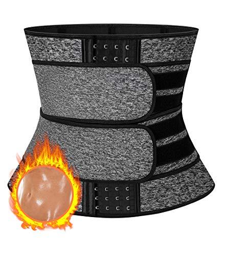 MISS MOLY Faja Reductora Adelgazante Cinturón de Sudoración Neopreno Hombre y Mujer, Faja Lumbar para Soporte, Efecto Sauna, Dos Ajustable Waist Trimmer Belt, Quema Grasa - Deporte Fitness