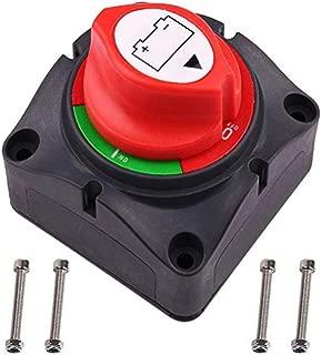 Noir et Rouge MXECO YD089 Interrupteur de Batterie Interrupteur Rotatif de d/éconnexion dalimentation