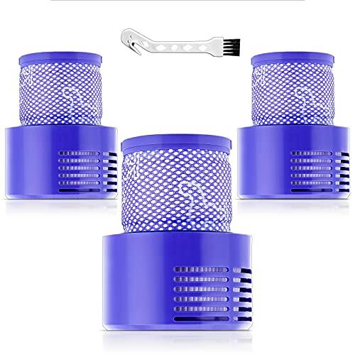 (3 pezzi) Filtri di ricambio HEPA per Dyson V10, serie V10 Cyclone, V10 Absolute, V10 Animal, V10 Total Clean Motorhead, SV12, Sostituisci cod. 969082-01, 3 filtri lavabili
