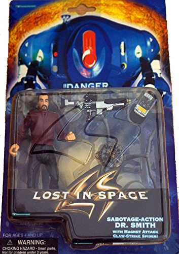 Lost In Space Sabotage Action Dr. Smith Action Figure In Red With Accessories Including The Magent Attack Spider Collectable!!!