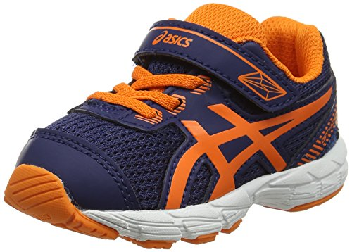 Asics Unisex-Kinder Gt-1000 5 Ts Sneakers, Blau (Indigo Blue/Hot Orange/Thunder Blue), 19.5 EU