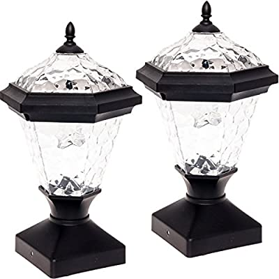GreenLighting Adonia Solar Post Cap Light for Nominal Wood Posts