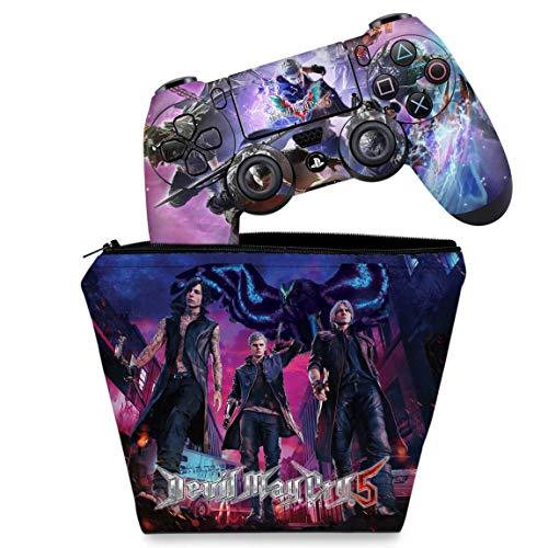 Capa Case e Skin Adesivo PS4 Controle - Devil May Cry 5