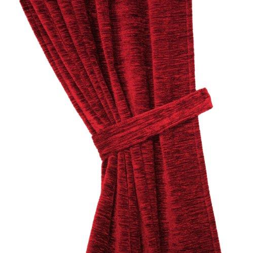 """Raffhalter passend für Vorhang \""""Grönland A\"""", Thermo-Chenille , Farbe:rubin, 6/60 cm, Schwere Qualität: 330g/qm, Einzelstück"""