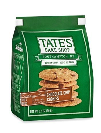 Tate's Bake Shop Chocolate Chip Cookies 3.5oz - Pack of 3.