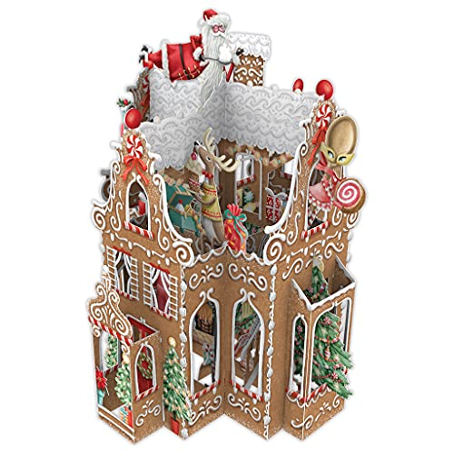 Gingerbread House - Tarjeta de felicitación de Navidad 3D