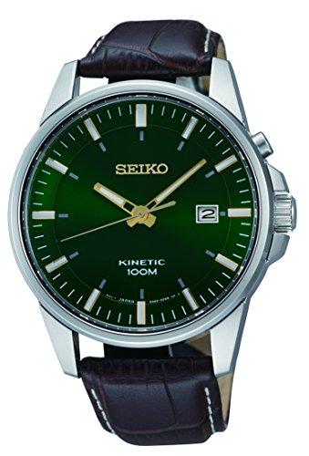 Seiko Orologio Analogico Kinetic Uomo con Cinturino in Pelle SKA753P1