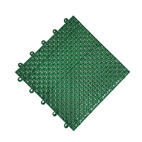 Modular Interlocking Cushion Placchini Da Pavimento Mattina Antiscivolo Resistente Antiscivolo Con Fori Di Drenaggio Piano Di Drenaggio Piastrelle Per Piscina Docci(Size:25X25X1.2CM,Color:Verde scuro)