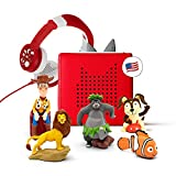 Toniebox Audio Player Starter Set with Woody, Simba, Nemo, Baloo, Playtime Puppy, and a Foldable Headphones - Red