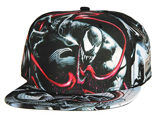 Marvel Comics Venom Sublimated All Over Print Snapback Sombrero