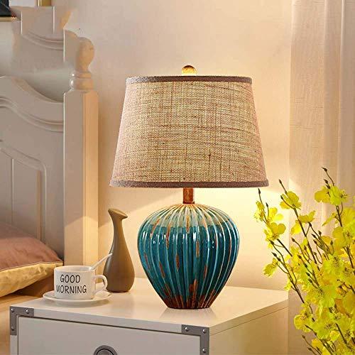 Retro dormitorio lámpara de cabecera moderna minimalista sala de estar estilo europeo de cerámica nórdico matrimonio habitación decorado D10xH50cm
