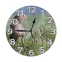 プレーリードッグ 置き時計 掛け時計 壁掛け時計 丸い時計 サイレント デジタル時計 おしゃれ 家の装飾